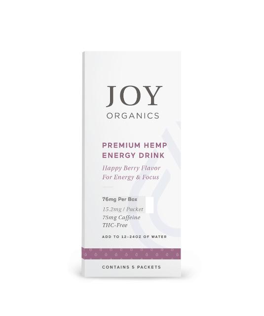 CBD Energy Drink Mix by Joy Organics, label