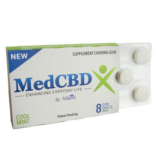 CBD Gum Mint, MedCBDX, 80mg