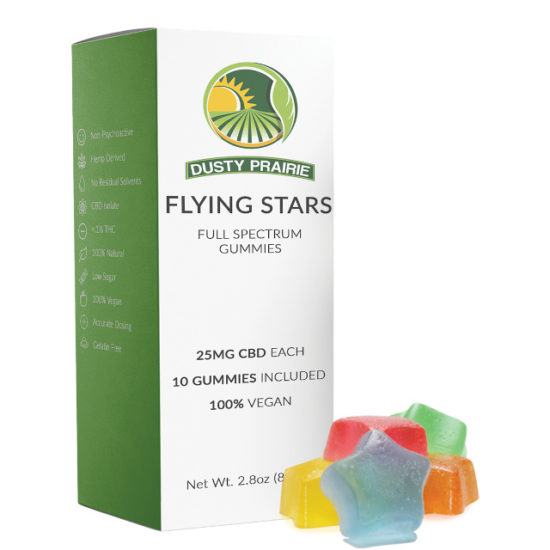 CBD Gummies - Flying Stars by Dusty Prairie, 250mg