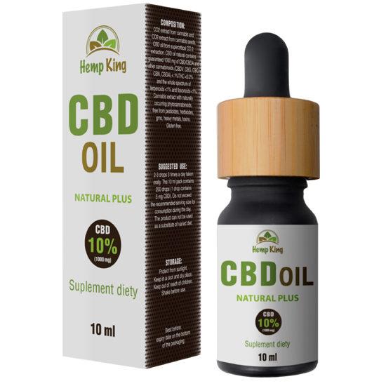 CBD Oil Natural Plus 10%, Hemp King 10ml