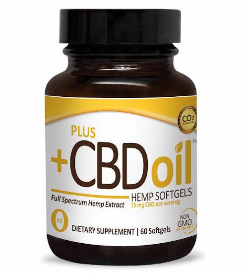 CBD Oil Softgels Gold Formula, Plus CBD Oil, 900mg
