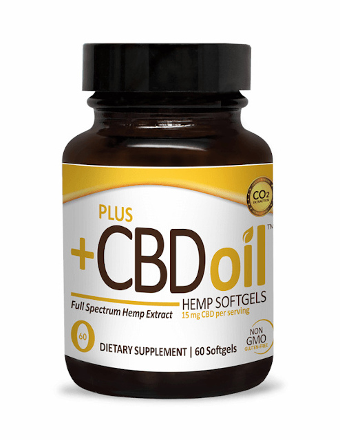 CBD Oil Softgels Gold Formula, Plus CBD Oil, 900mg