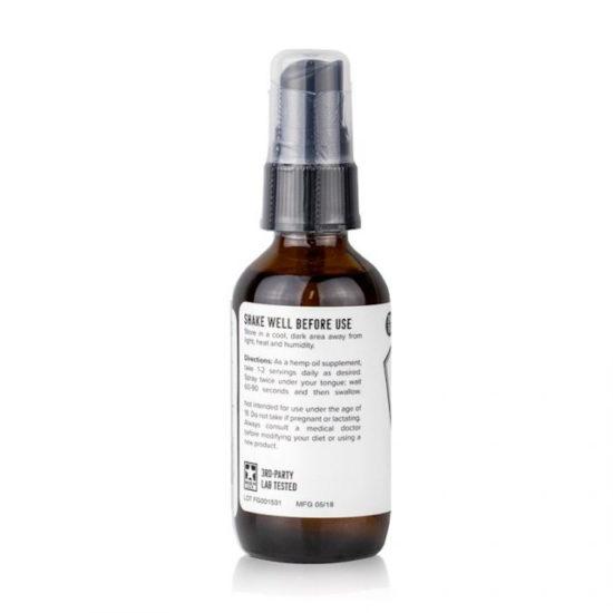 CBD Oil Spray Tincture by Hemp Oil Care, Back