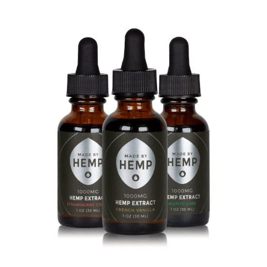 CBD Oil Tinctures by Made by Hemp