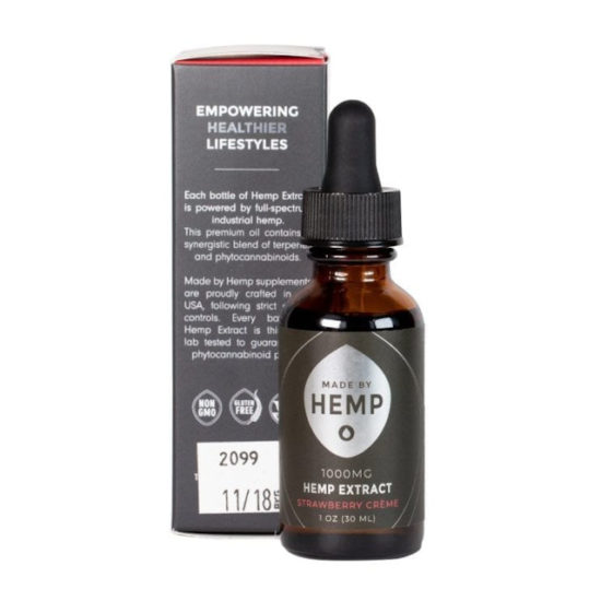 CBD Oil Tinctures by Made by Hemp, box