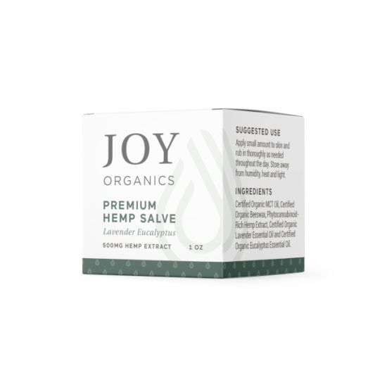 CBD Salve by Joy Organics, Label