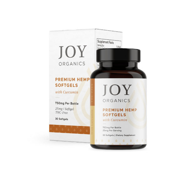 CBD Softgels with Curcumin by Joy Organics