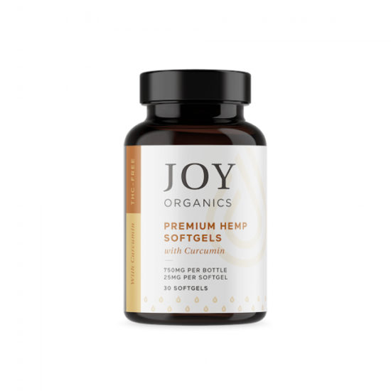 CBD Softgels with Curcumin by Joy Organics, 750mg