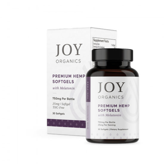 CBD Softgels with Melatonin by Joy Organics