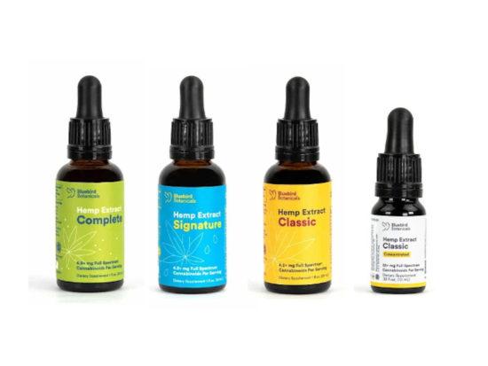 Full-spectrum CBD Oils by Bluebird Botanicals