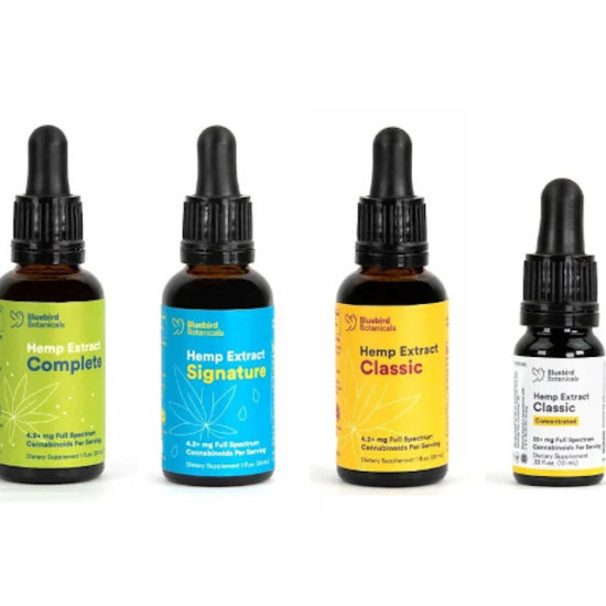 Full-spectrum CBD Oils by Bluebird Botanicals