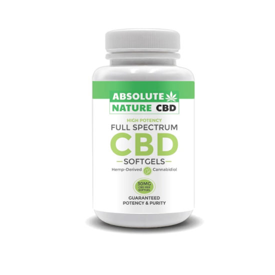 Full-spectrum CBD Softgels by Absolute Nature, 900mg