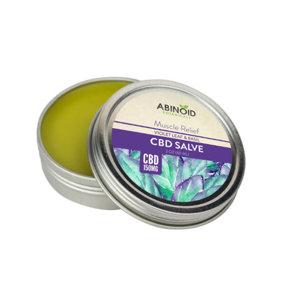 Violet Leaf and Basil CBD Salve by Abinoid Botanicals,, 150mg